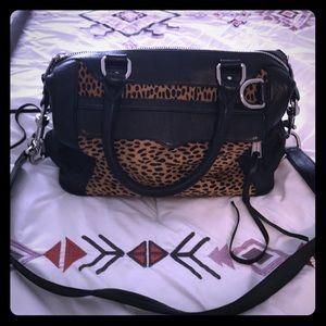 Rebecca Minkoff leopard bag. Good condition.
